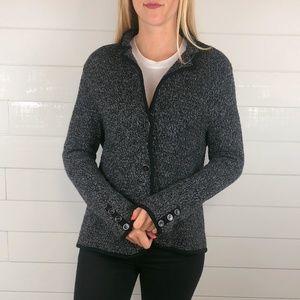 Talbots XL Merino Wool Casual Blazer Sweater